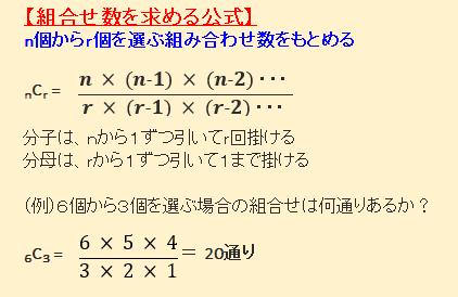 確率の公式